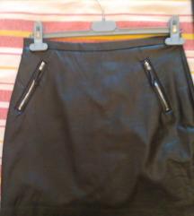 Kožna mini suknja H&M,vel.36