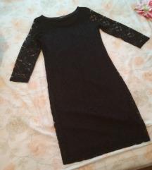 cipkasta crna haljina 38