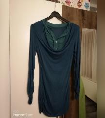 Majica/košulja plavo-zelena dugi rukavi
