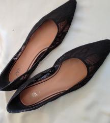 ZARA balerinke od crne čipke- nikad nošene
