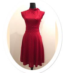 LINDY BOP crvena midi retro haljina, NOVO, XXS