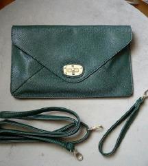 %Smaragdno zelena pismo torbica%