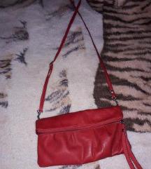 Crvena torbica kozna -nenosena