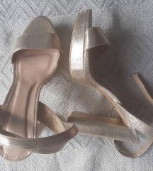 ShoeBox zlatne sandale s platformom
