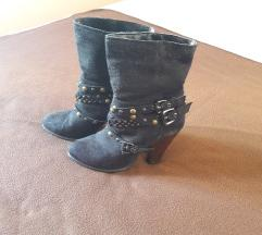 Čizme brušena koža 37