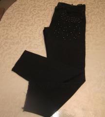ZARA crne traperice s perlicama