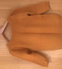 Zara žuti vuneni pulover
