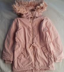 H&M topla jakna/parka 128 – odlično stanje