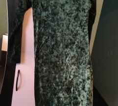 Zelena plišana haljina