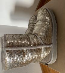UGG srebrene šljokaste čizme