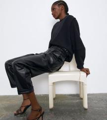 Zara nenošene kožne hlače M-L
