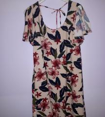 Cvjetna kratka haljina MANGO