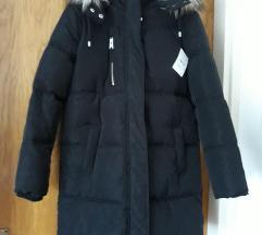 Nova crna debela zimska jakna,uklj,slanje