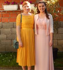 Žuta haljina svečana 38, M, asos