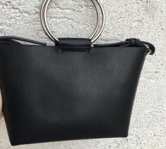 Zara crna čvrsta torba