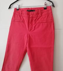 crvene Zara poslovne hlače