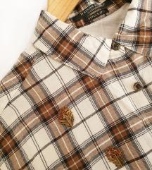 MAISON SCOTCH karirana košulja s perlicama NOVA