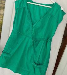 Zelena ljetna bluza sa ukrasnom čipkom L