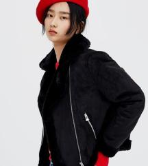 PULL&BEAR Avijatičarska crna jakna