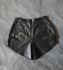 Alexander Wang Kožne kratke hlače