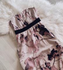 H&M cvjetna maxi haljina bez ramena - NOVO