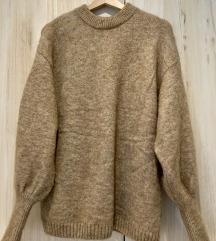 Moher džemper s retro rukavima