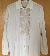 VINTAGE zanimljiva bijela košulja, S/M
