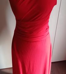Crvena haljina jedno rame