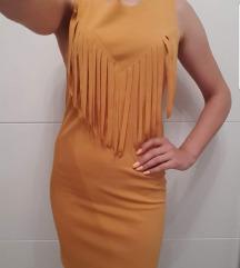 Žuta senf haljinica 37