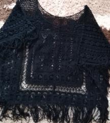 Crna majica za plažu