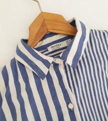 BERSHKA oversized prugasta košulja