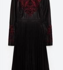 Zara kozna plisirana haljina