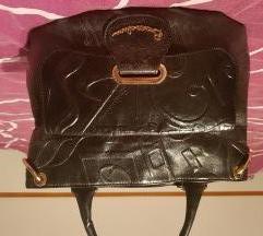Braccialini crna kožna torba