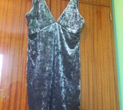 Plisana srebrnosiva haljina