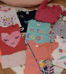 LOT9kom kr. ruk. majice+haljinica-vel122+poklon