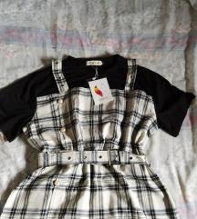Nova s etiketom karirana haljina
