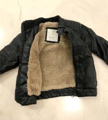 zara djecja futrana jakna od umjetne kože