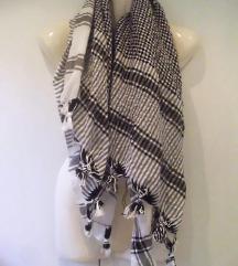 Marama crno-bijela