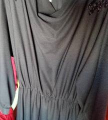 Vintage crna midi haljina