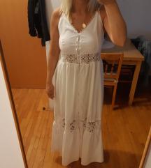 Bijela maxi lace haljina