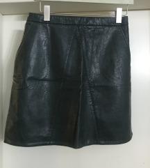 ZARA suknja/ekokoža-M