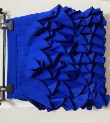 Plava suknja sa volanima