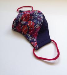 Maska Redish Flowers- Blue COVER dvoslojna ŽENSKA