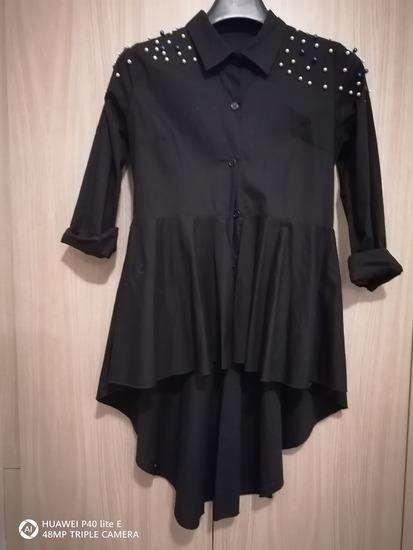 Crna asimetrična košulja