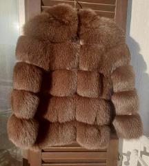 Bunda pravo krzno lisice s kapuljačom %