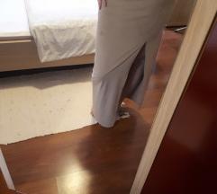 Maxi krem suknja