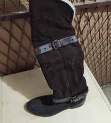 Kožne čizme preko koljena