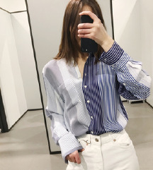 Zara predimenzionirana duga košulja na pruge % %