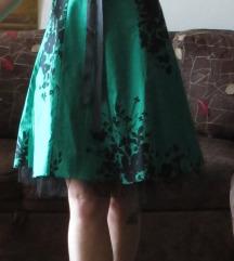 (% sniženo) Zelena PIN-UP vintage haljina