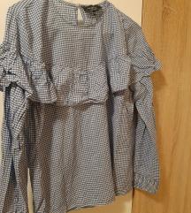 Reserved plavo bijela kockice košulja